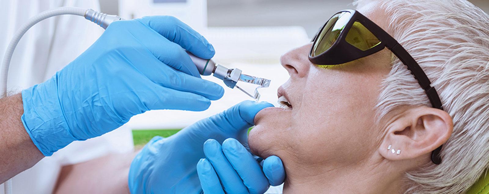 Laser-Behandlung in der Zahnarztpraxis Meling