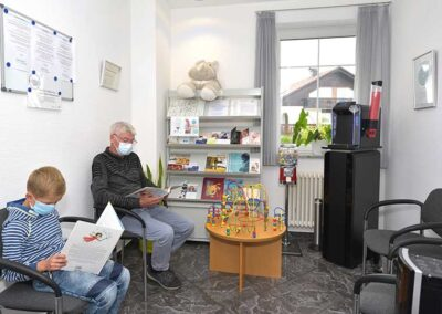 Praxisrundgang: Wartezimmer